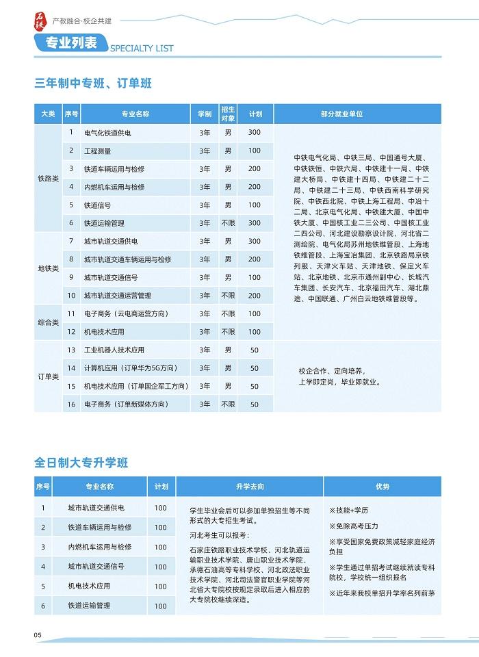 石家庄新铁轨道交通中专学校2021年招生简章(图)